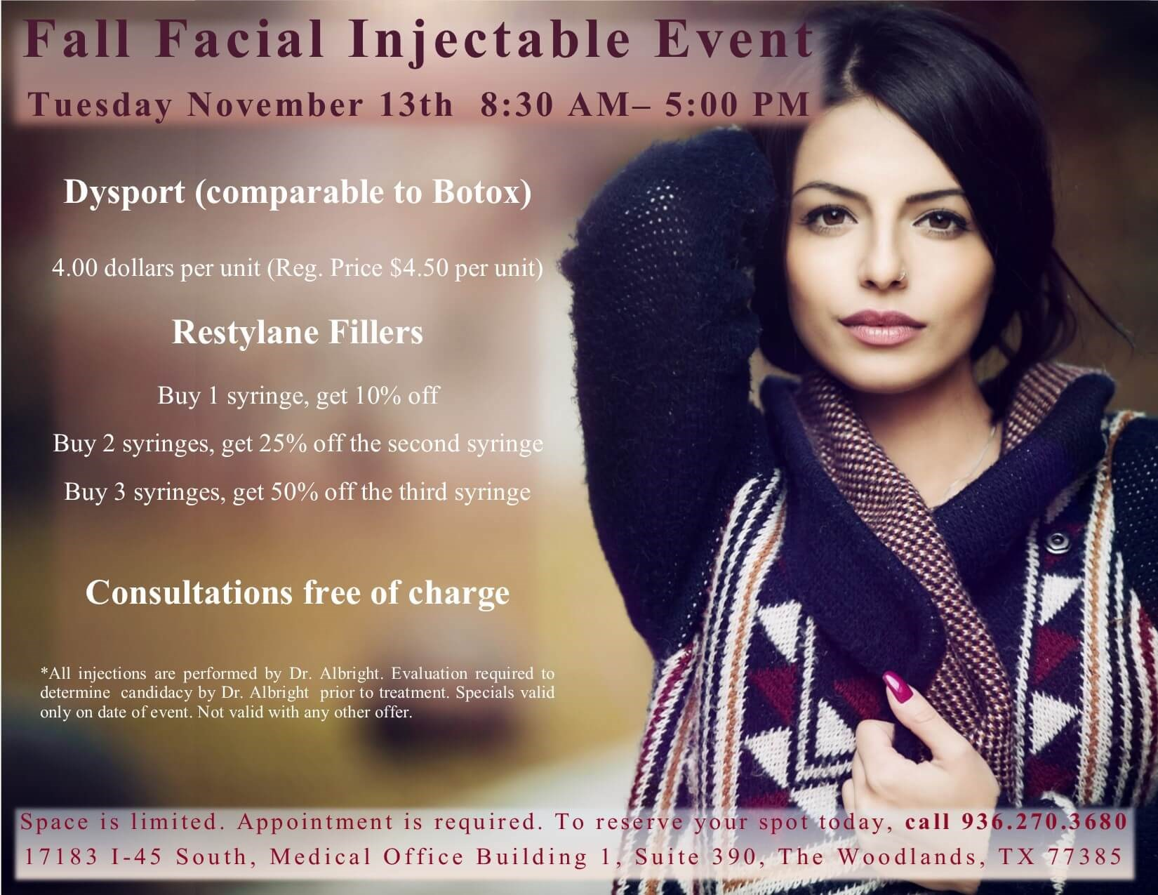 Fall Injectable Event